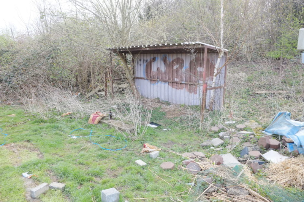 Beckmannshof: Einst stolzes Stadion, heute eine Ruine