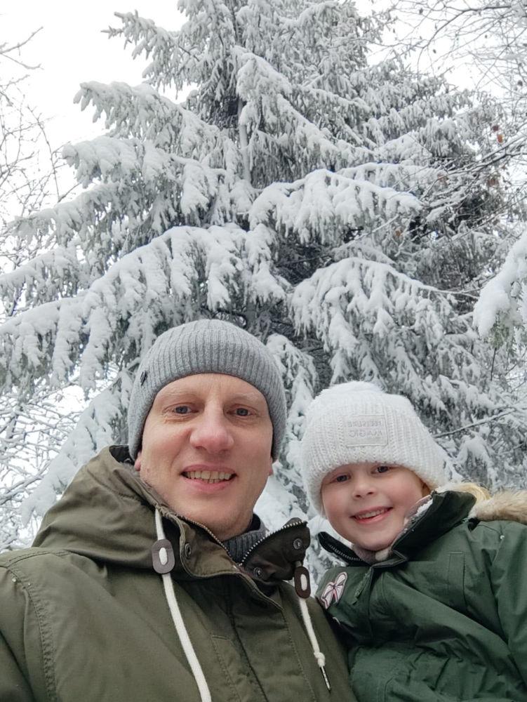 Marc Blume und Tochter