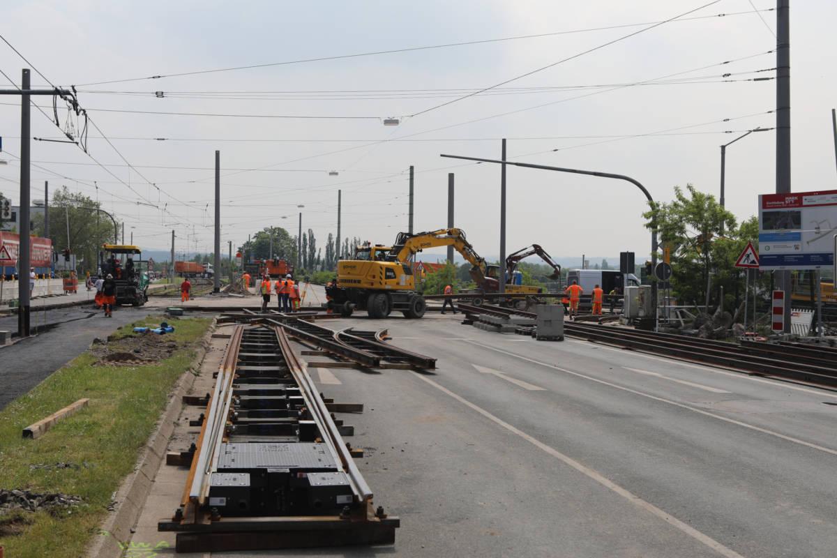 Weichenstellung an der Wittener Straße - Mark 51.7 ist Schienennetz